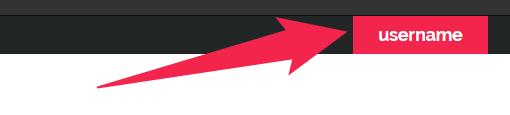 Detail screenshot of username menu on amara.org