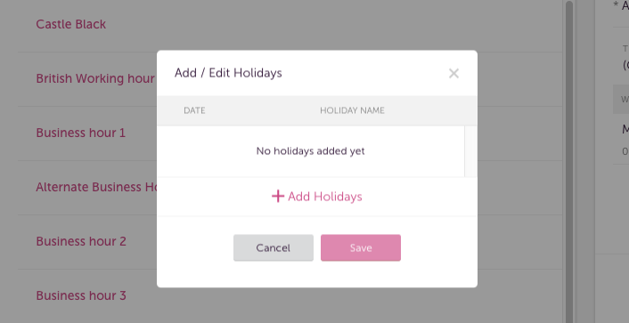 Calendar Holidays.Adding Holiday Calendar Freshcaller