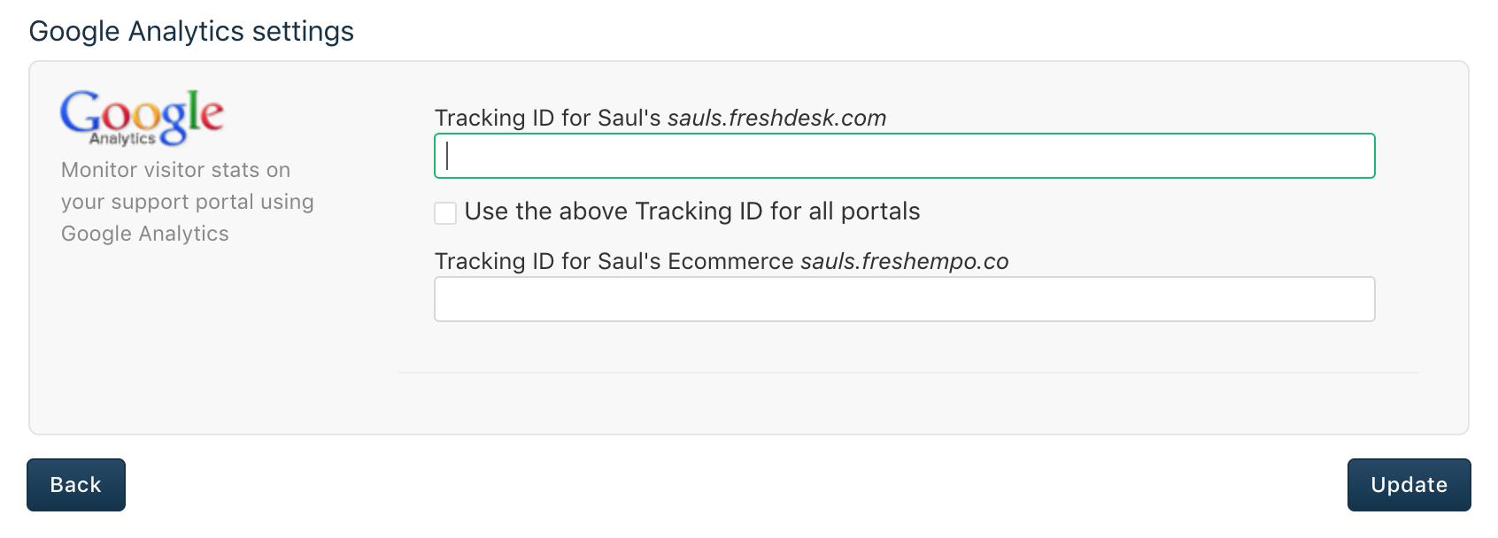 Integration with Google Analytics : Freshdesk