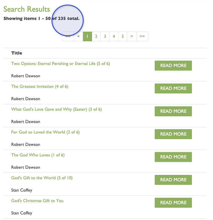 How to Search for Sermons Using Scripture References :