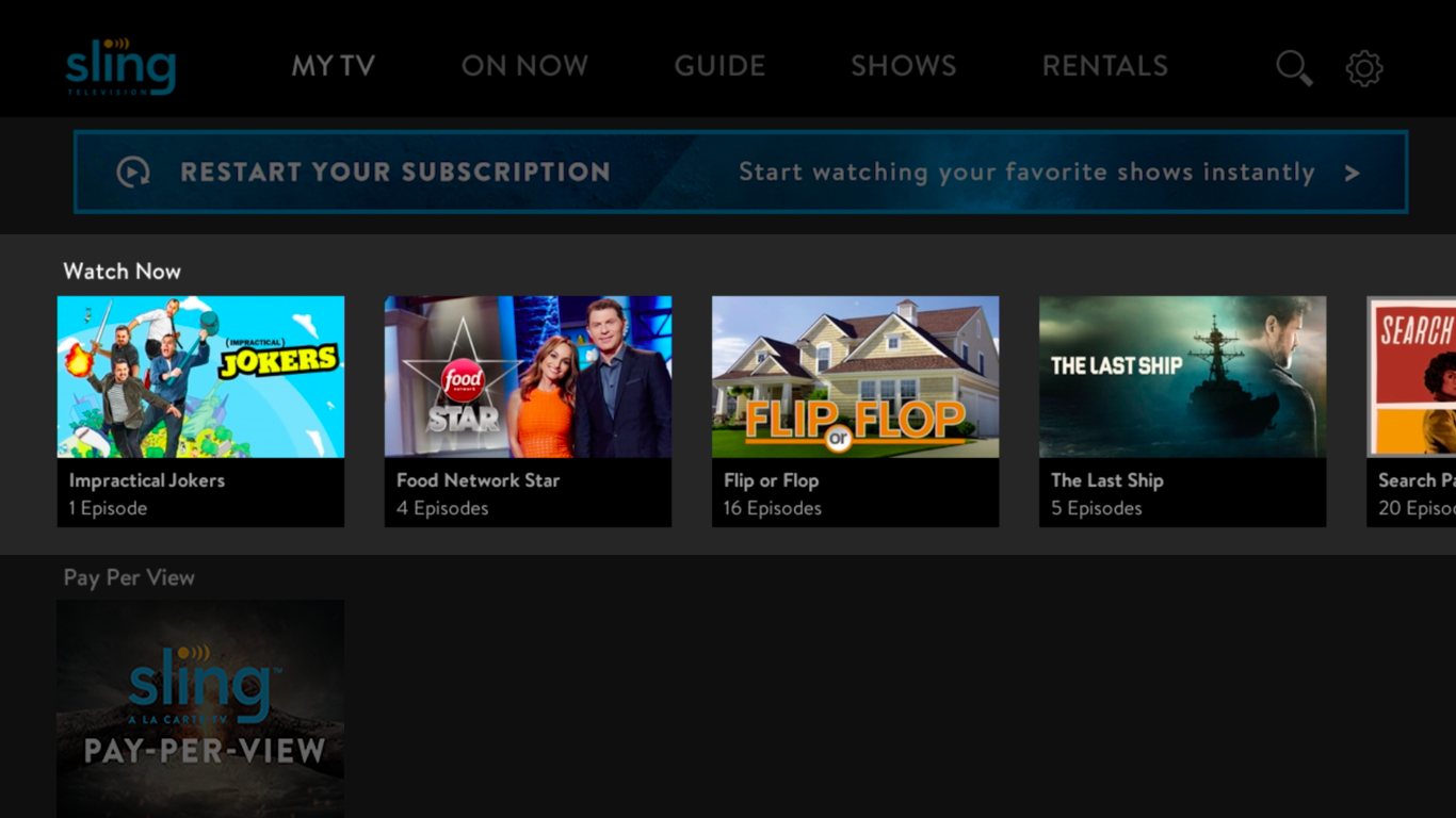 Cancel your Sling TV subscription