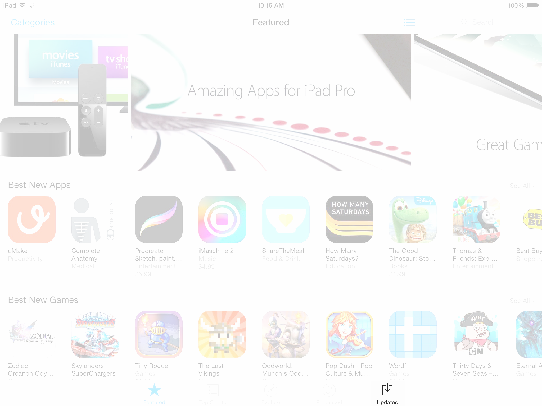 image of app store with updates highlighted