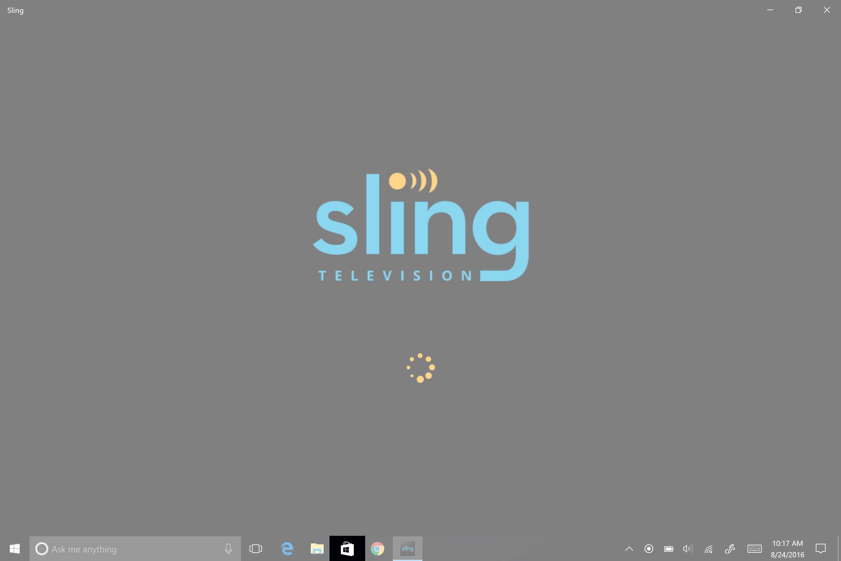 How do I update the Sling TV application on Windows 10?