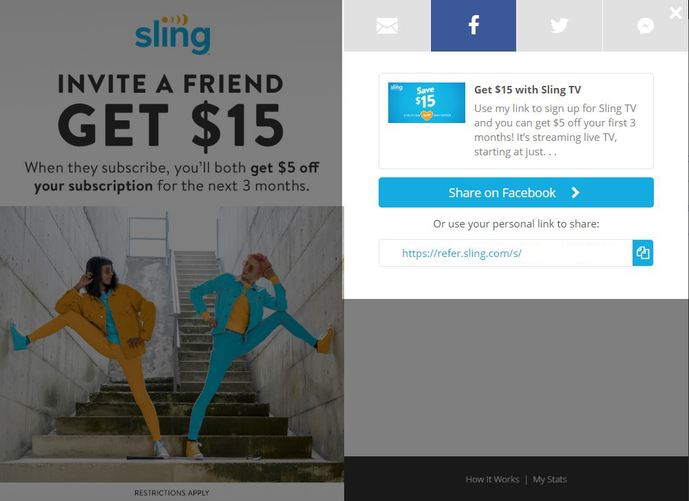 Refer a friend to Sling TV