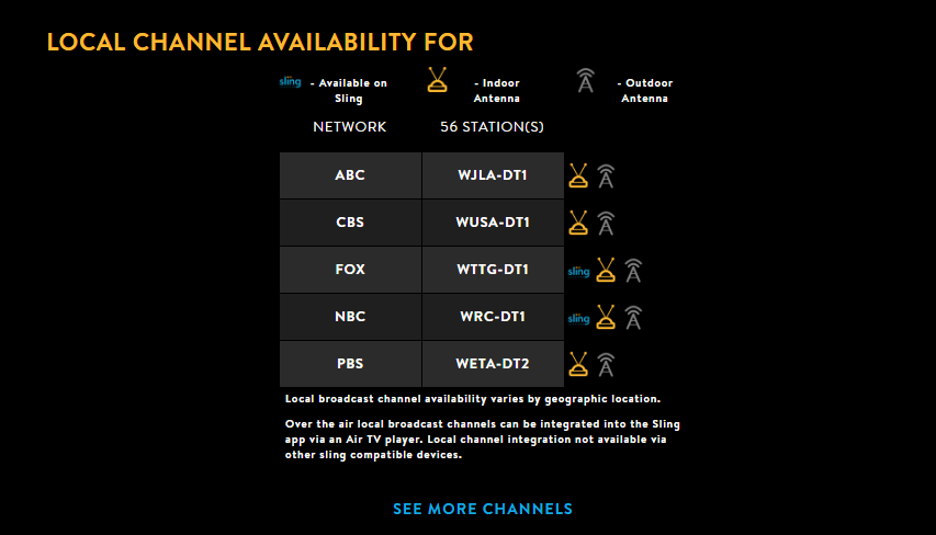 Sling TV | Watch local channels on Sling TV on
