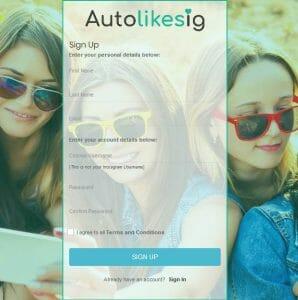 Dashboard Registration - Autolikesig.com