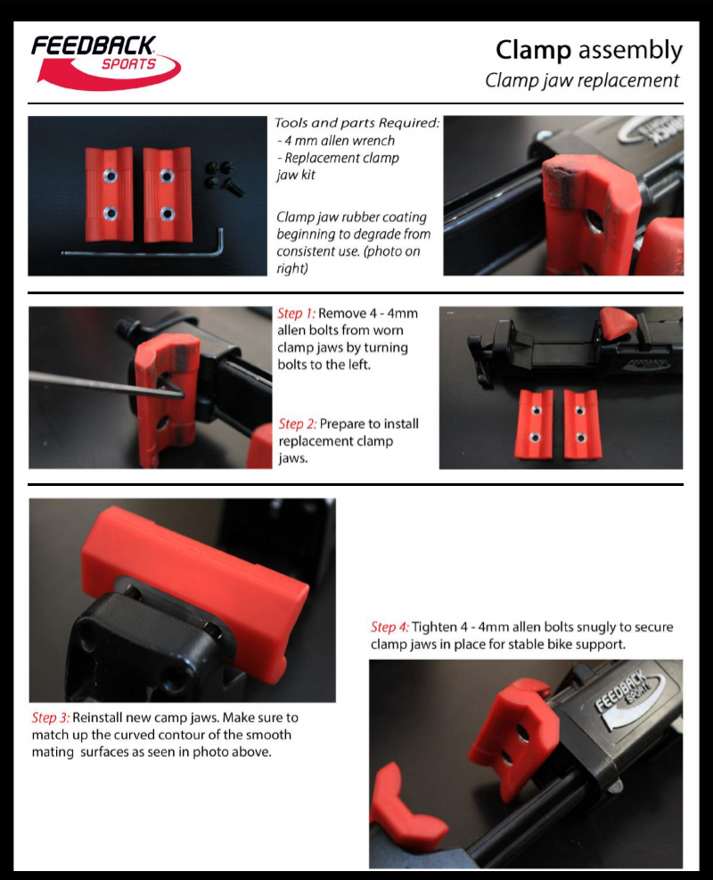 Guide to replacing clamp jaws