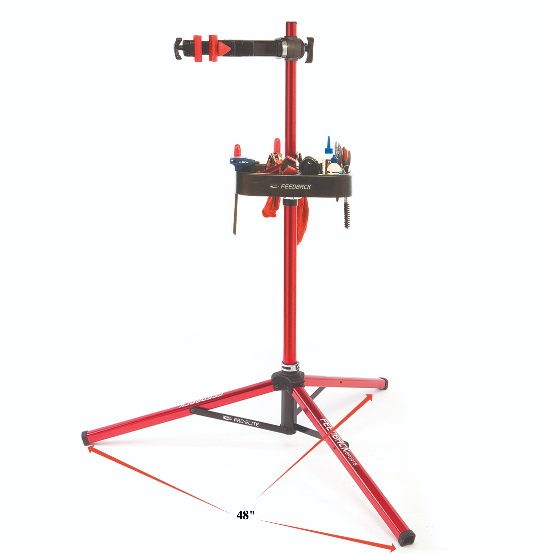 "Repair stand with 48"" footprint"
