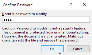 Reenter the Password