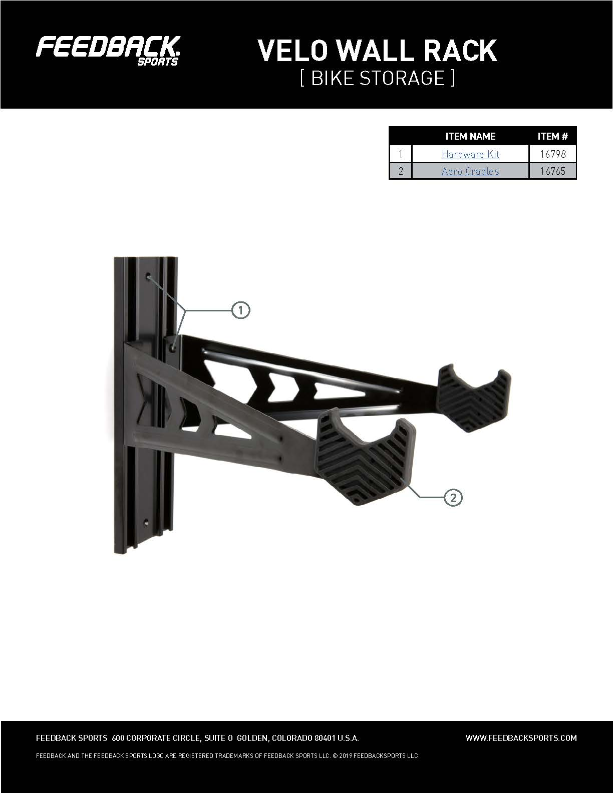 Velo wall rack small parts