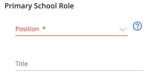 School Role Fields