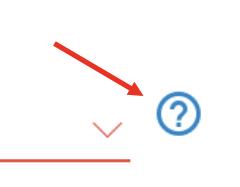 Question mark help field