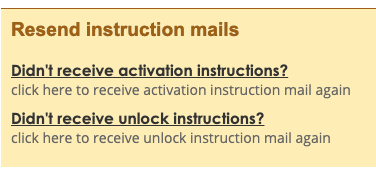 resend instruction mails