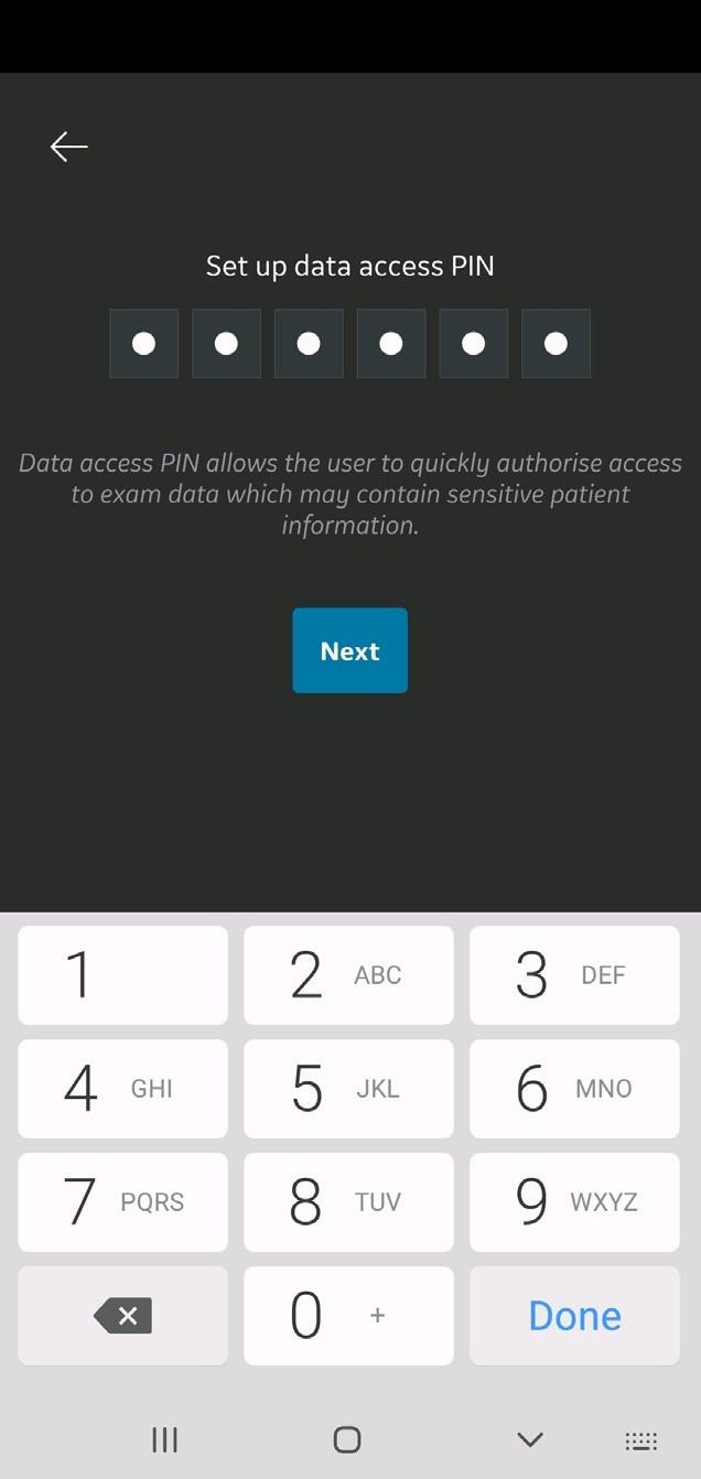 Enter data access PIN