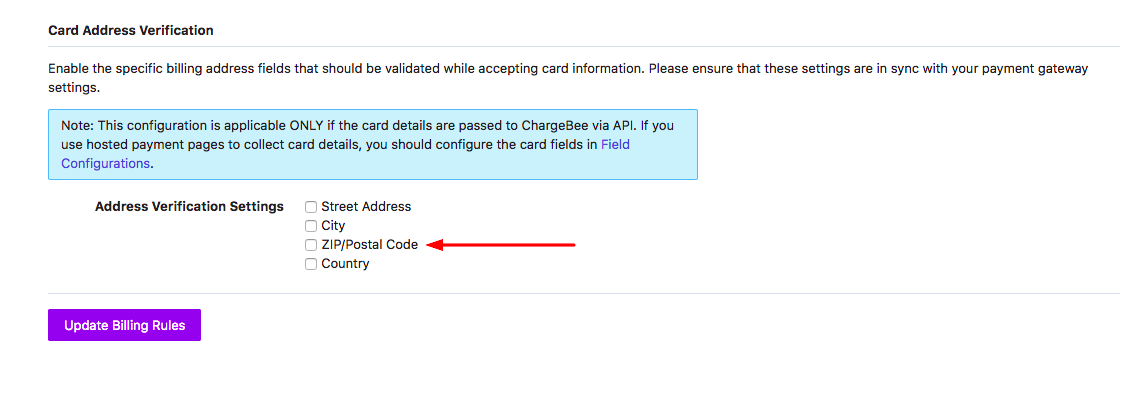I M Getting An Error Card Billing Zip Cannot Be Blank While Creating A New Customer Via Api What Should I Do Chargebee Help Center