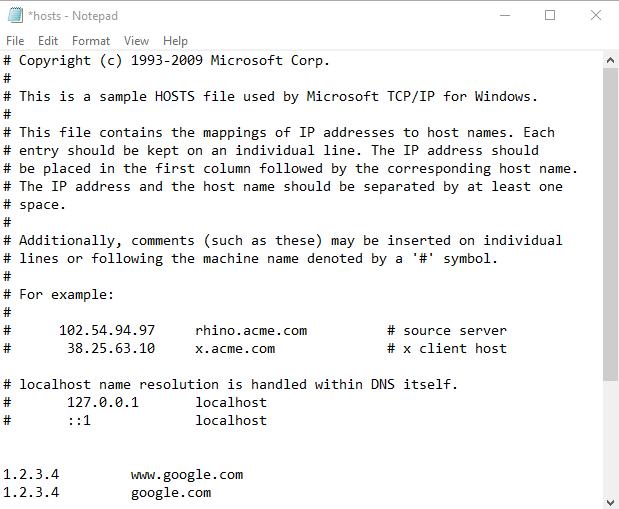 Hosts File (Windows)