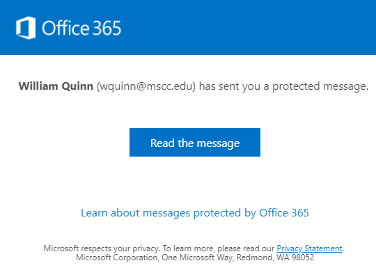 New Office Message Encryption