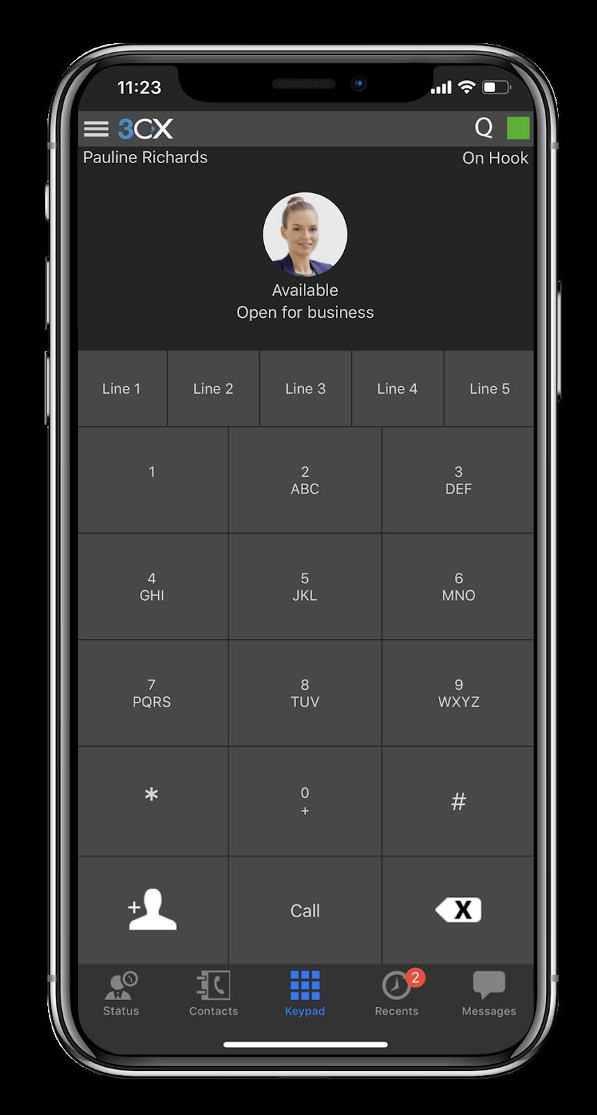 L'application iOS de 3CX