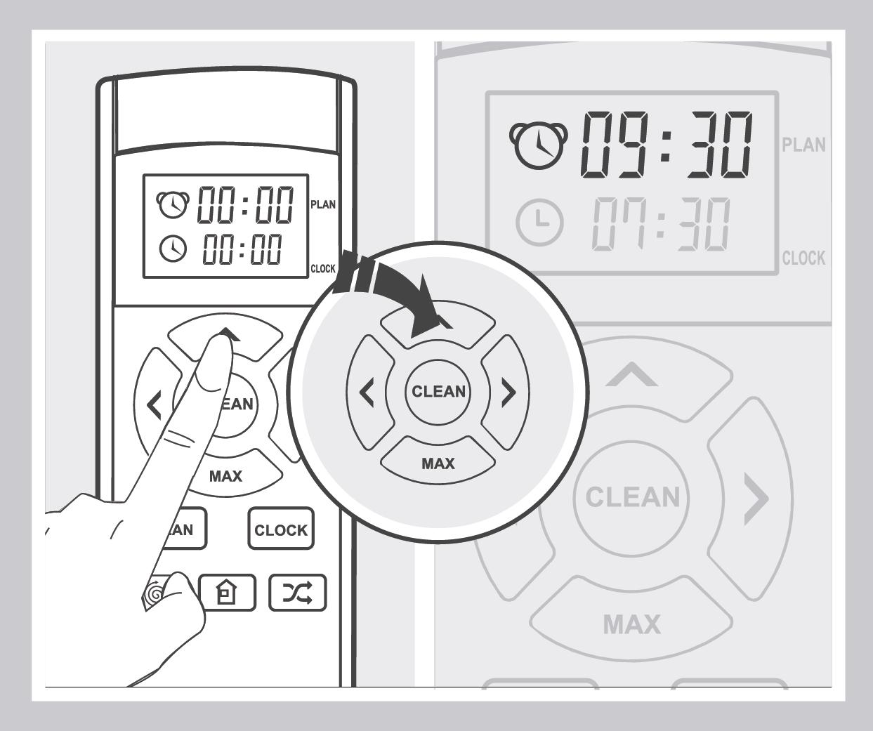 Robô Aspirador de Pó JETS J1 - Configuração do horário de agendamento 2