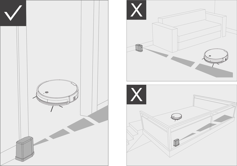 Robô Aspirador de Pó JETS J1 - Utilização da parede virtual 1