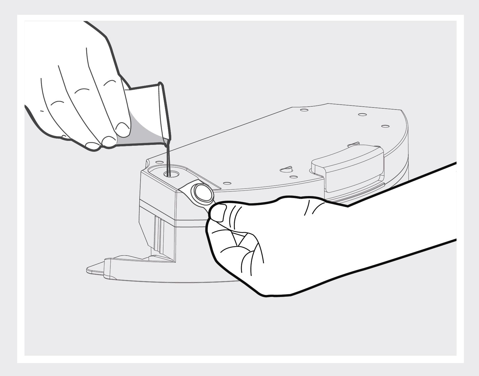 Robô Aspirador de Pó JETS J1 - Utilizando o reservatório de água 1
