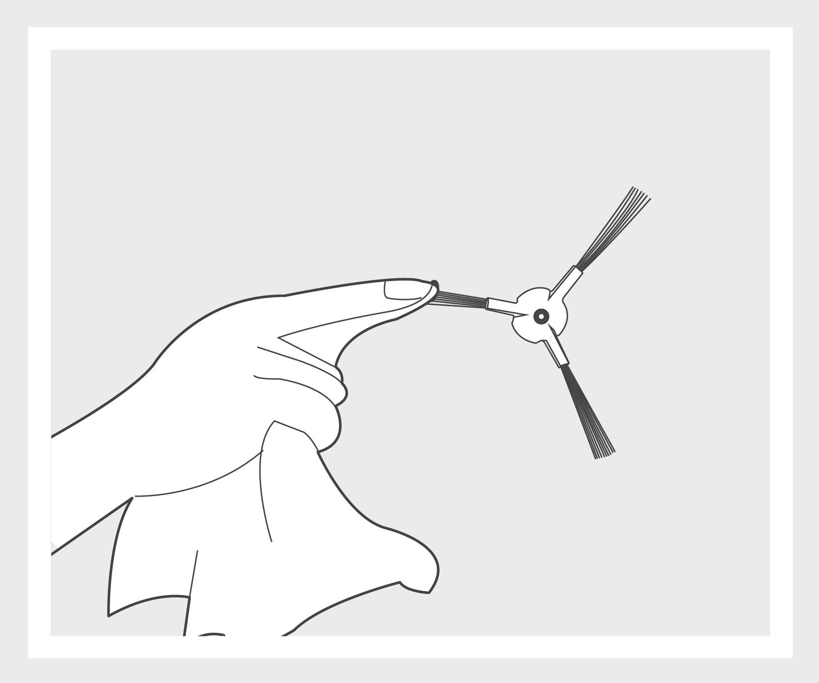 Robô Aspirador de Pó JETS J1 - Limpando as escovas laterais