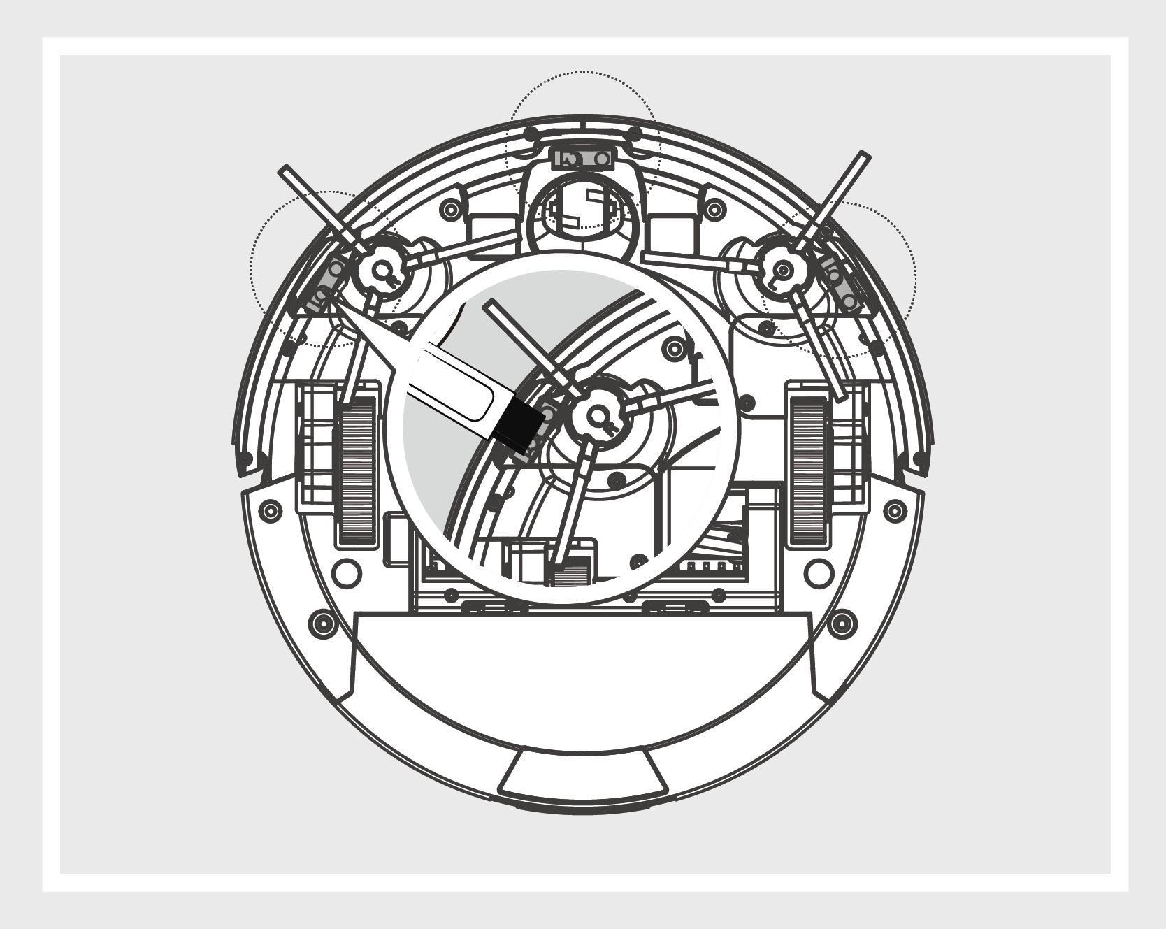 Robô Aspirador de Pó JETS J1 - Sensores antiqueda