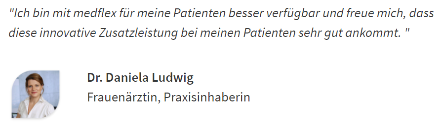 Referenz Frau Dr. Ludwig