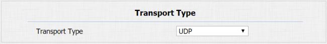 Transport Type
