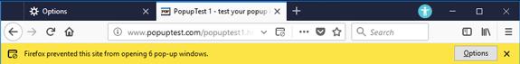 popups blocked 57