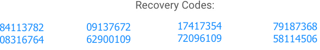Xago Recover Codes