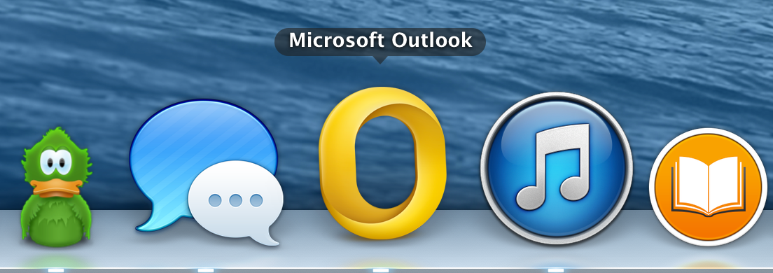 Outlook for Mac 2011 (Dock)