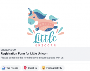 Online Registration Form - Facebook Share