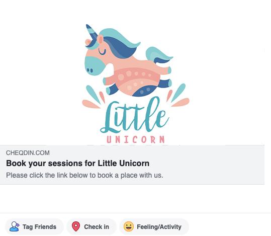 Share online booking link on facebook