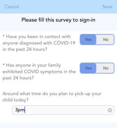 Fill Parent Survey