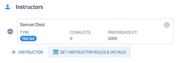 Section - Instructor Details
