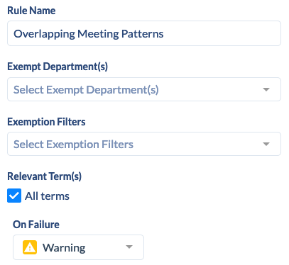Section Rules - Overlapping Meeting Patterns
