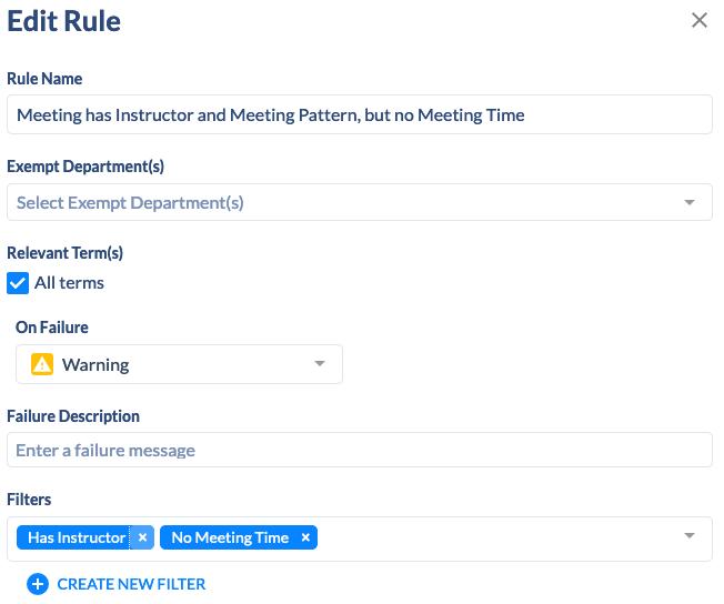 Edit Rule