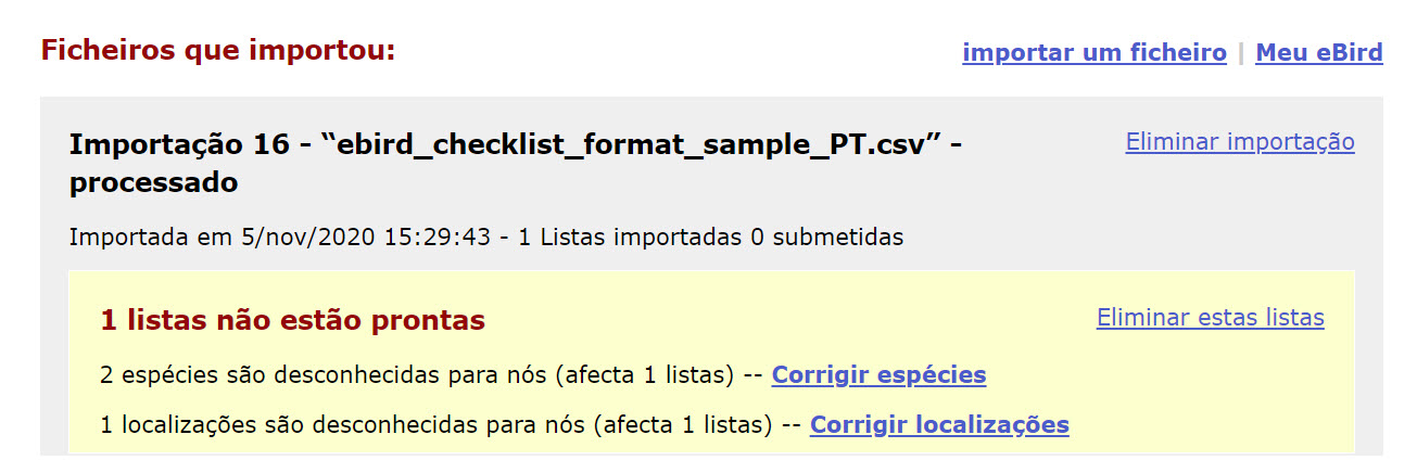 Cleanup imported checklists