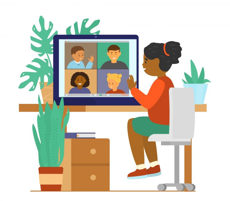 Virtual circle time with preschoolers