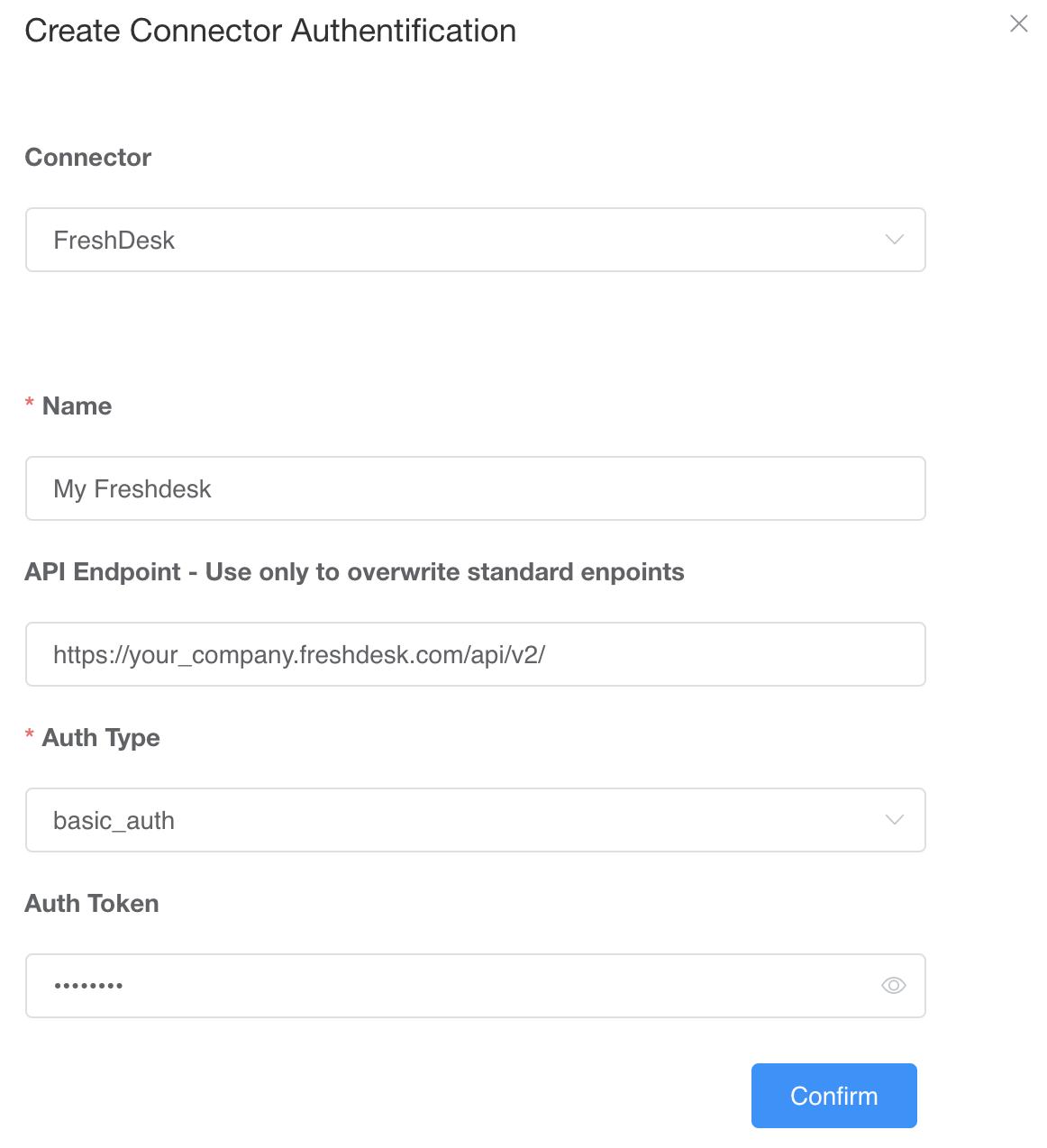 Freshdesk Connector Auth