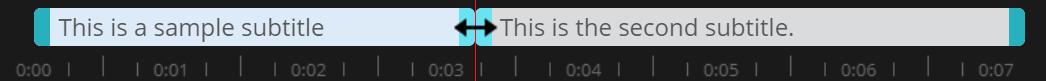 sync arrow shown in the Amara timeline