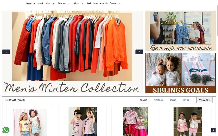 MoreCustomersApp Online Cloth Store