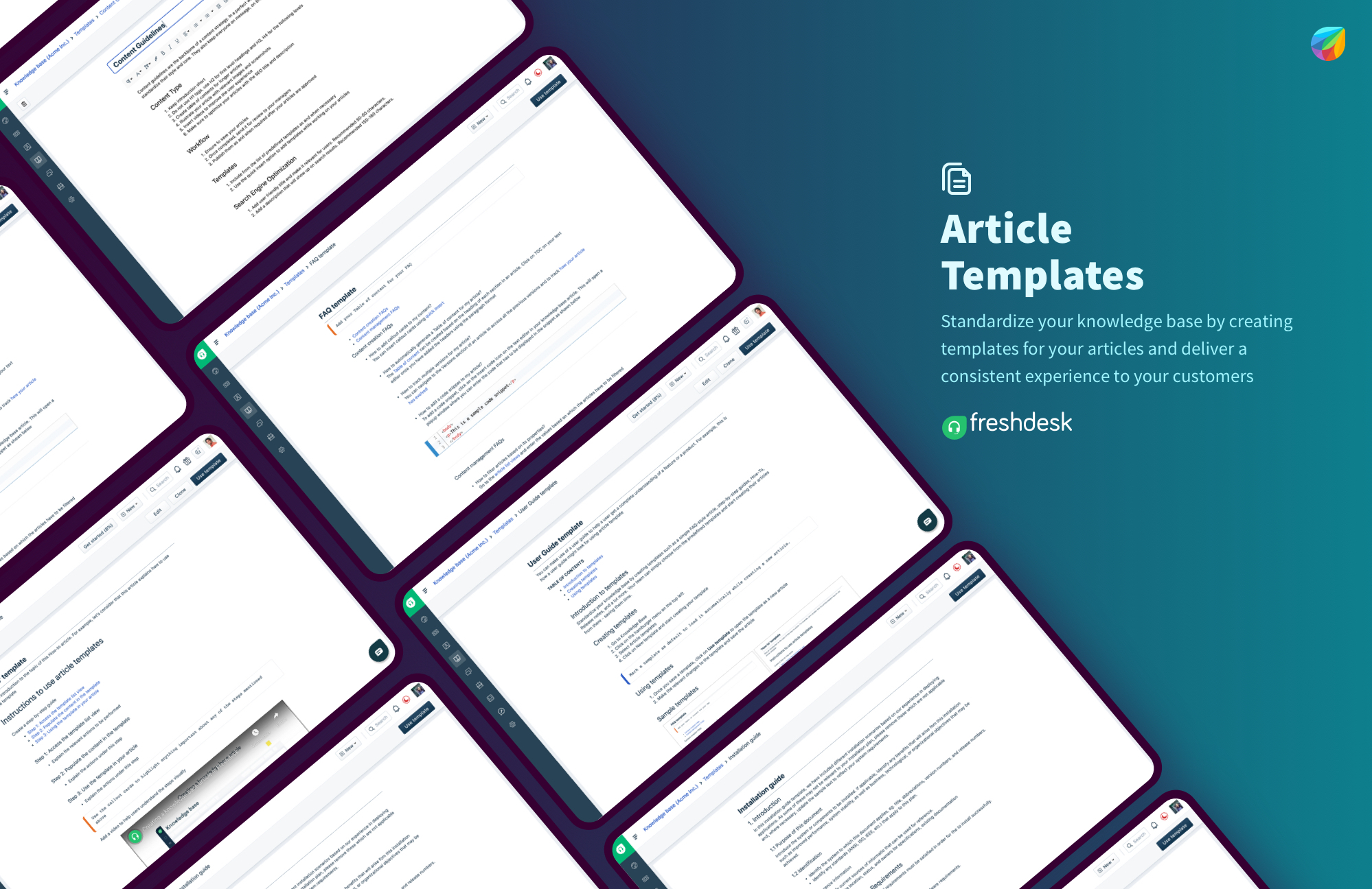 Article Templates in Freshdesk