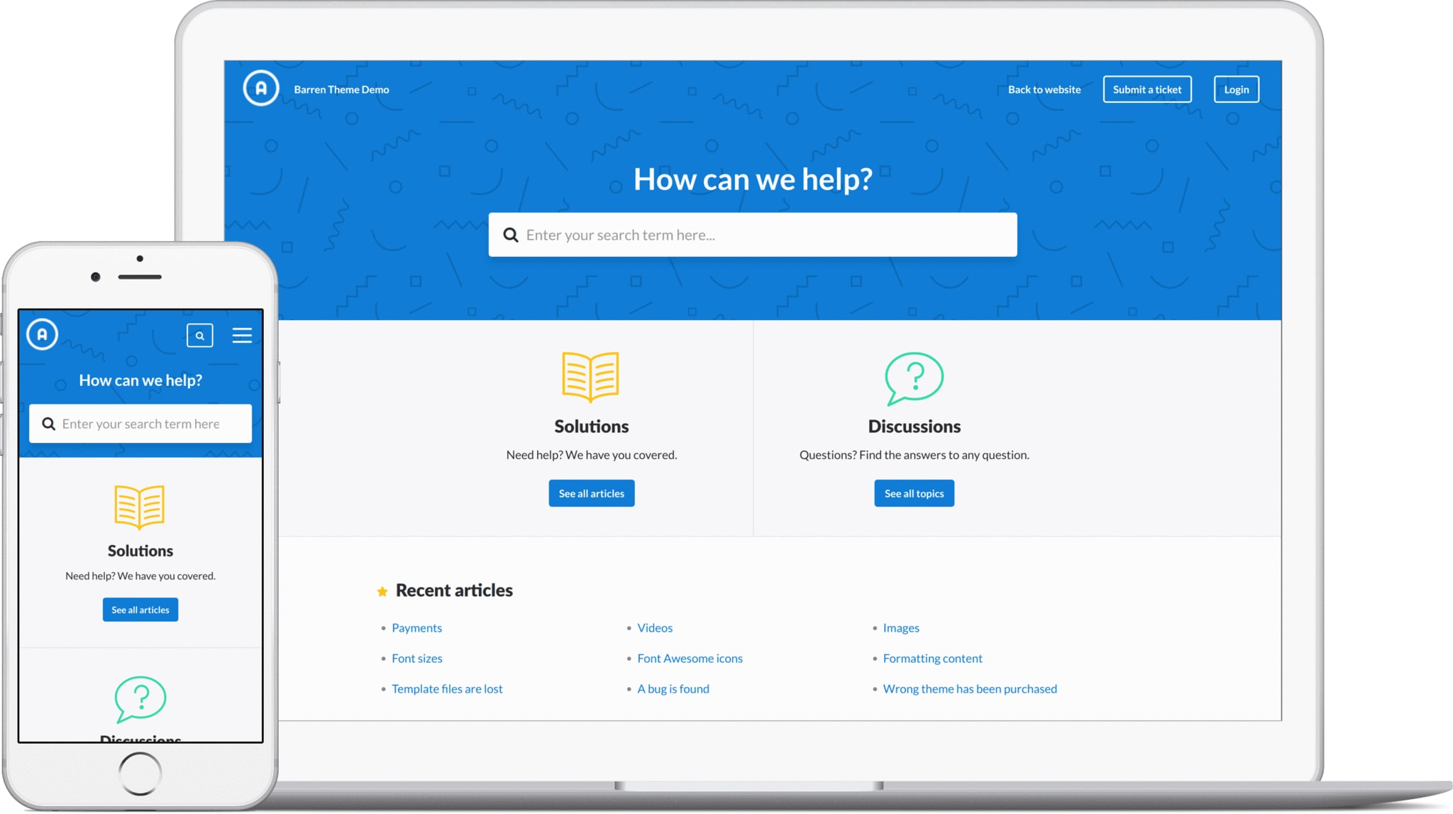 Barren Blue for Freshdesk portal