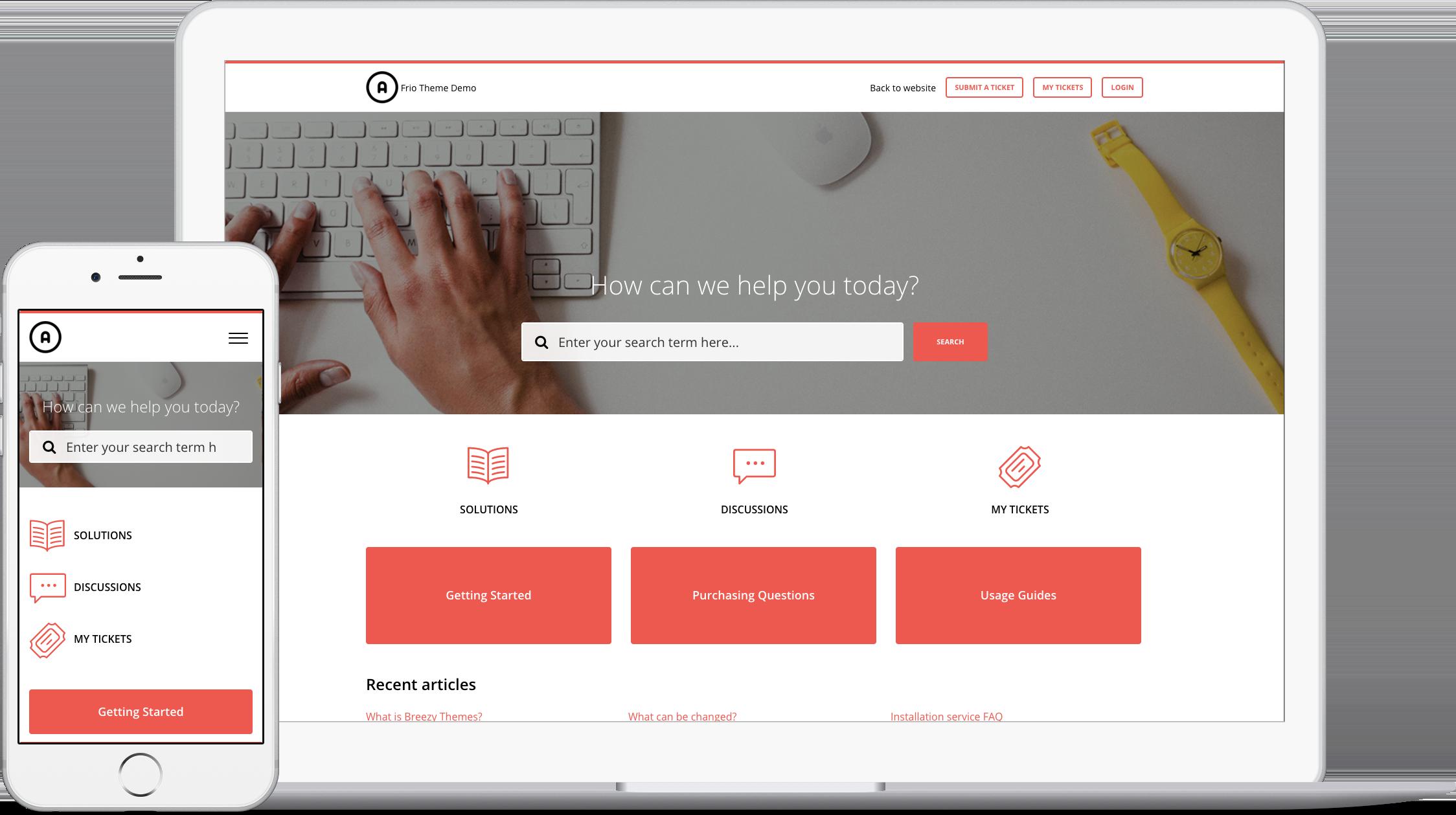 Frio Red Theme for Freshdesk Customer Portal