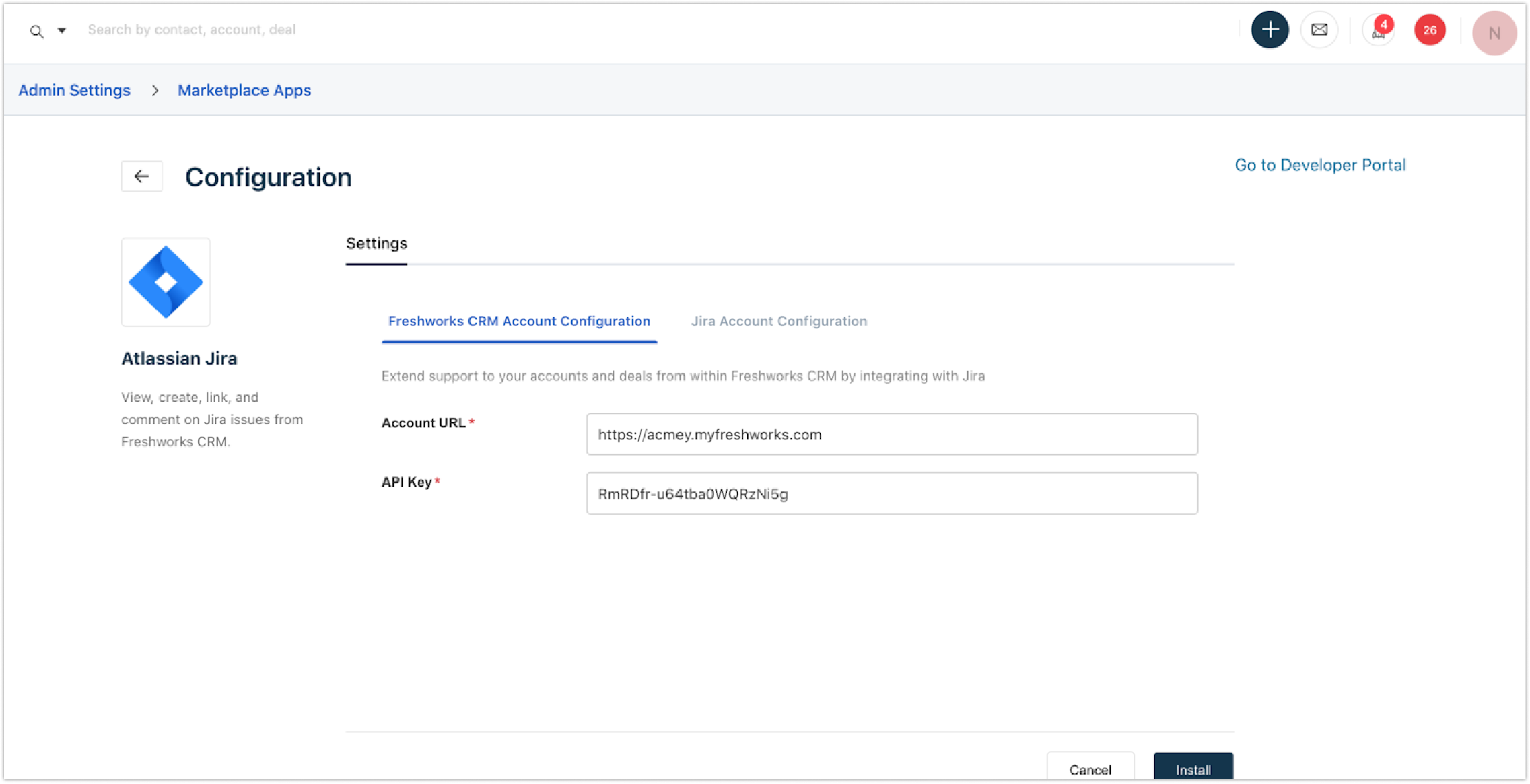 How to Integrate Jira with the web application  Freshsales Suite