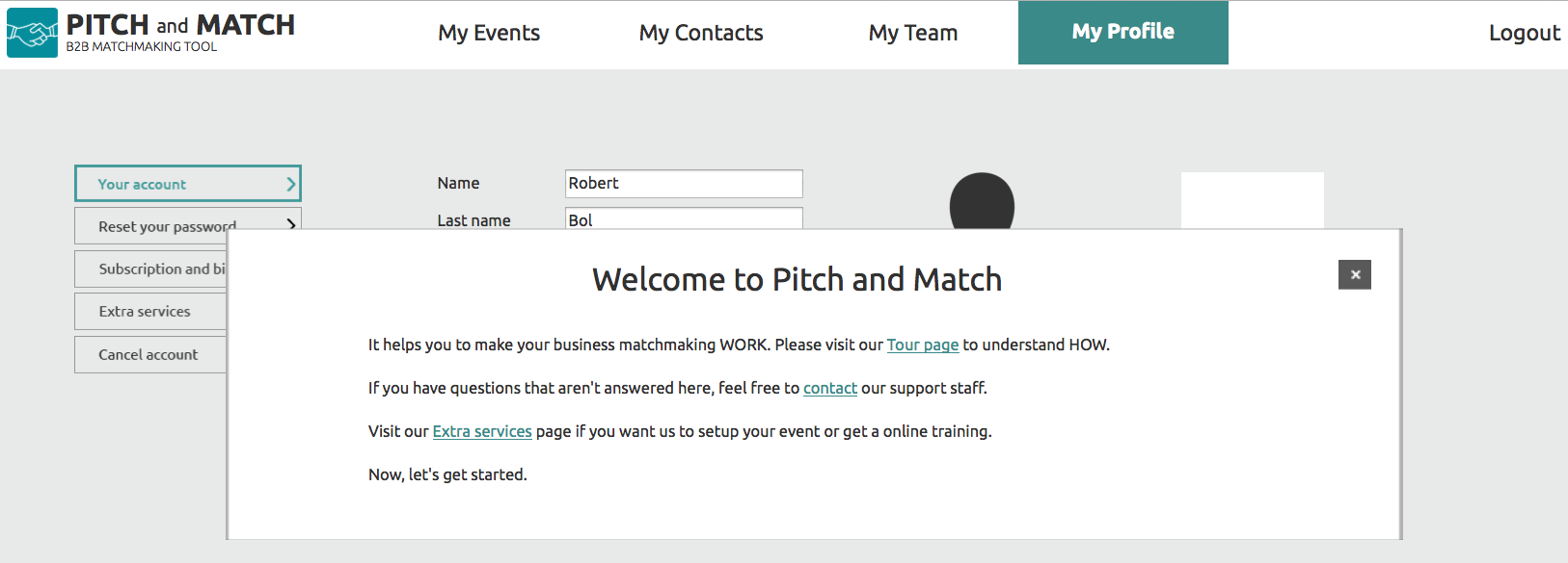 Welcome to Pitch and Match