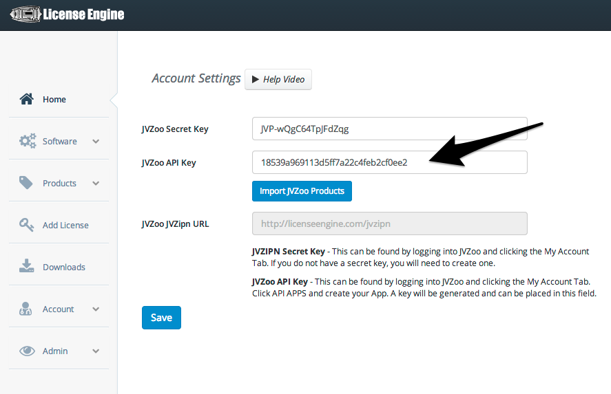 How do I get my JVZoo API Key? : License Engine