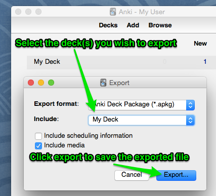 Export decks from Anki for use with AnkiApp : AnkiApp Support